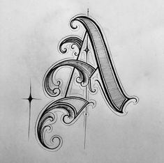 Tattoo Fonts For Names Lettering Gothic Lettering, Graffiti Lettering Fonts, Chicano Lettering, Creative Lettering, Lettering Design, Typography, Alphabet Tattoo Designs, Tattoo Fonts Alphabet, Hand Lettering Alphabet
