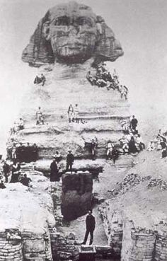 Egypt Picture - Sphinx at Giza in 1900