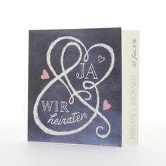 #Heiraten #Hochzeit #Einladungskarte #liebe #braut #justmarried