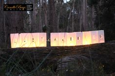 #justmarried #wedding stunning candle bags for your wedding. Buy now from www.candlebagsonline.com.au Price: AUD $24.75