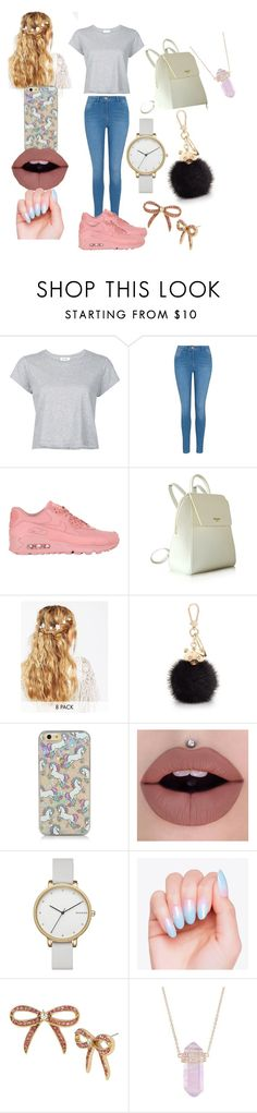 """Nice day out"" by queen-zayy ❤ liked on Polyvore featuring RE/DONE, George, NIKE, ASOS, Furla, Skagen, Betsey Johnson and Luna Skye"