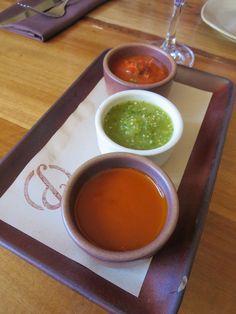 A trio of salsas  San Francisco Eats - Brunch at Padrecito ~ Sidewalk Safari