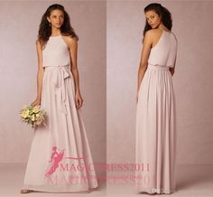 Pink Chiffon Beach Boho Vintage Bridesmaid Dresses Bhldn 2016 Cheap A-Line Jewel Evening Gowns Garden Wedding Guest Party Dress New Bridesmaid Dresses Cheap Bridesmaid Dresses Long Maid of Honor Dress Online with 106.0/Piece on Magicdress2011's Store | DHgate.com