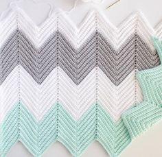 crochet chevron blanket