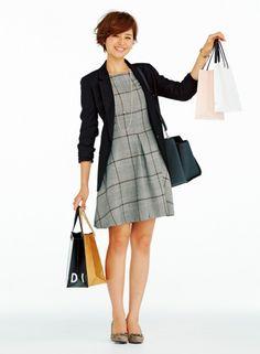 Tailored jackets × plaid dress
