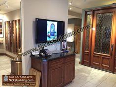 nicks building showroom view glass doors colors wood types  #frenchexteriordoors #exteriorhousedoors #exteriordoorshoustontexas #exteriorsolidwooddoors #craftsmanexteriordoors