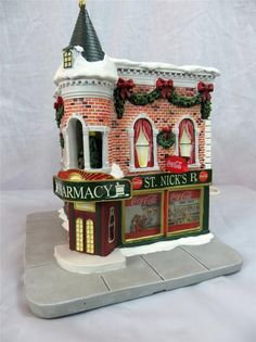 St. Nick's Pharmacy (Angled Front View), Lemax (#2245)