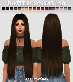 Sims: Butterfly`s 140 Haare retexturiert – Sims 4 Hairs – / … – sims 4 cc – Hallow Sims: Butterfly`s 140 Haare retexturiert - Sims 4 Hairs - / . - sims 4 cc - - -Hallow Sims: Butterfly`s 140 Haare retexturiert - Sims 4 Hairs - / . Sims 4 Mods, Sims 3, Sims Four, The Sims 4 Packs, Sims 4 Black Hair, The Sims 4 Cabelos, Pelo Sims, Sims 4 Dresses, Sims 4 Outfits