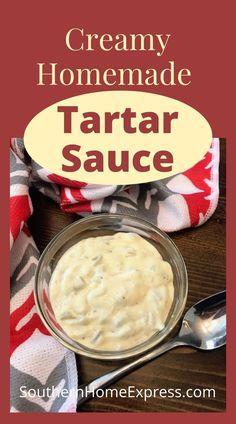 Tartar Sauce Ingredients, Easy Tartar Sauce, Homemade Tartar Sauce, Sauce Recipes, Fish Recipes, Appetizer Recipes, Cooking Recipes, Dinner Recipes, Chicken Zucchini Casserole