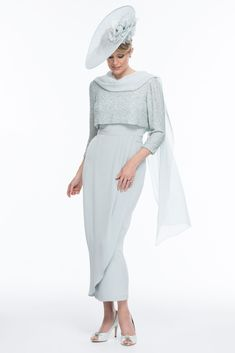Mother of the Bride/Groom - Silk dress and beaded top with silk wrap Bespoke hat to match - Joyce Young Collections By Storm Mother Of The Bride Inspiration, Mother Of The Bride Hats, Mother Of Bride Outfits, Mother Of Groom Dresses, Mothers Dresses, Beaded Top, Groom Outfit, I Dress, Marie