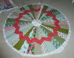 Rose Room Quilts: Chevron Christmas Tree Skirt in Progress