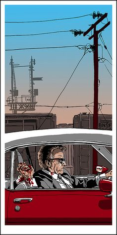 Mr. Orange Dying in a 1972 Pontiac Lemans Coupe Convertible by Tim Doyle
