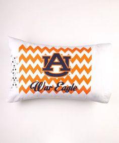 NEW Chevron Auburn University Pillow Case