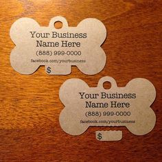 Design your own custom pet tags with your own unique design or texts for your beloved pet.