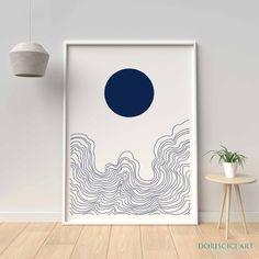 Geometric Wall Art, Abstract Wall Art, Abstract Oil, Wall Art Decor, Wall Art Prints, Cactus Wall Art, Abstract Waves, Mid Century Modern Art, Scandinavian Art