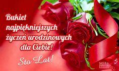 Bukiet najpiękniejszych życzeń #urodziny #kartki #życzenia #urodzinowe #pozdrawiam #stolat #100lat #polska #birthday #happybirthday #kwiaty #róże #bukiet #poland #pozdrowienia