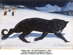 Walton Ford's Six New Paintings of a Panther's Journey to Freedom Walton Ford, Female Black Panther, Grandeur Nature, Dark Fairytale, Hi Fructose, King Kong, Wildlife Art, Fantasy Creatures, Panthers