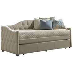 Daybeds Upholstered Daybed w/ Trundle by Hillsdale #HomeDecor