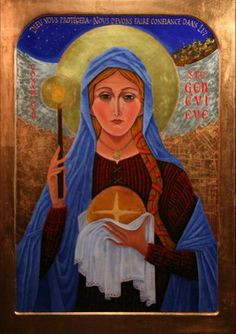 Saint Genevieve icon by Howard Anderson - feast day Jan 3