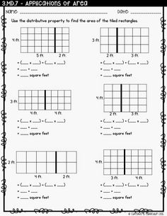 Teaching Distributive Property Using an Area Model