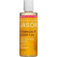 JASON Vitamin E oil with Almond, Apricot, Avocado and Wheat Germ Oils; bought this to add into my home-made facial moisturizer!