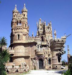 Castle Colomares in Benalmadena Pueblo, Spain