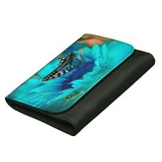 *NEW* Beautiful black leather wallet with black & blue butterfly. Pair it with the matching phone. #butterfly #leather #wallet #ladies #fashion
