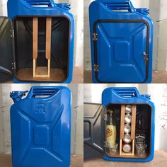 Upcycled Jerry Can Mini Bar, Picnic, Camping, Recycled, New Can, Blue, Man cave | eBay