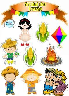 Festa Junina Silhouette Projects, Pikachu, Clip Art, Scrapbook, Sandro, School Stuff, Needlepoint, Scrapbooking, Pictures