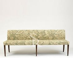 Lou Lou Bench - contemporary - dining benches - by Sarah Richardson Design Upholstered Dining Bench, Dining Room Bench Seating, Dining Room Furniture, Banquette Dining, Kitchen Benches, Sarah Richardson, Contemporary Dining Benches, Dining Bench With Back, Patterned Chair