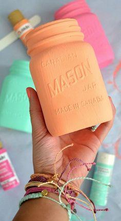 DIY Printed Mason Jars
