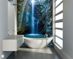 Fototapety ścienne – galeria inspiracji - Mała łazienka - zdjęcie od DecoMania.pl