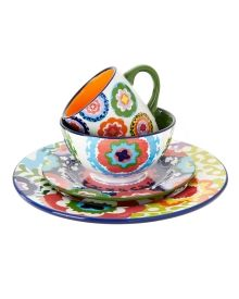Oui by French Bull Suzani-Inspired Four-Piece Dinnerware Set - Home | Stein  sc 1 st  Pinterest & Oui by French Bull Suzani-Inspired 12"|220|275|?|en|2|490690a7919416dd7c4d6a461f3e567c|False|UNLIKELY|0.28840383887290955