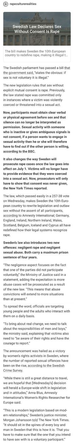 This was a great idea. It's a shame that this has to go in effect to protect people but I'm glad more is being done about rape.
