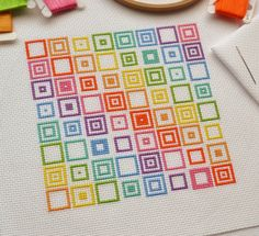 PDF Cross Stitch Pattern for Geometric от theworldinstitches