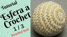 Beaded Ball TUTORIAL Crochet Part 1/3 - English Subtitles