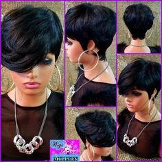 Short Cut Wigs, Pixie Cut Wig, Short Human Hair Wigs, Curly Wigs, Short Pixie, Remy Human Hair, Short Hair Cuts, Short Hair Styles, Pixie Haircut