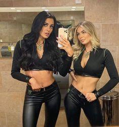 Monster Energy Girls, Monster Girl, Beautiful Goddess, Beautiful Women, Leather Dresses, Leather Pants, Pit Girls, Promo Girls, Hot Goth Girls
