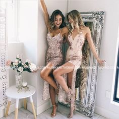 Sexy straps long sequins party dress evening dress - Thumbnail 4