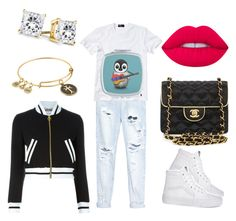 """""""Untitled #25"""" by ivanov1234491 ❤ liked on Polyvore featuring OneTeaspoon, Polo Ralph Lauren, Moschino, Chanel, Alex and Ani and Lime Crime"""