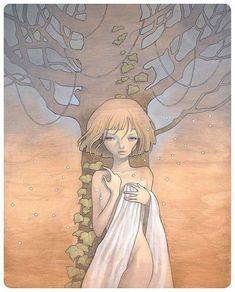 Showcase of Feminine Illustrations - Audrey Kawasaki
