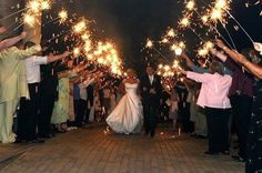 Sparklers!! Going out in a blaze of glory!