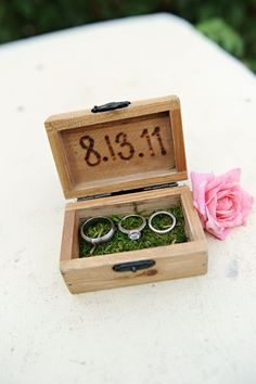 Rustic Chic Ring Bearer Box ON BACK ORDER by paperandlaceaustin, $29.99