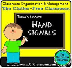 Clutter-Free Classroom: HAND SIGNALS {Classroom Management Tips}