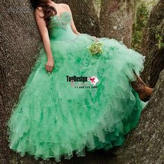 Wholesale 2017 Sweet 15 Dress Luxury Pretty Ball Gown Organza Quinceanera Dresses Sweetheart Beading Prom Gown