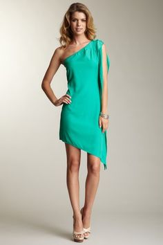 "Jessica Simpson ""Asymmetrical Side Ruffle Detail Dress"" $48.00"
