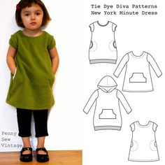 "Easy to sew, this fully reversible dress gets a perfect ""A"" for style and fit! Plenty of room for appliques and embroidery. Makes a perfect pinafore/jumper over a top and tights or leggings and a darling sundress worn on its own. Five sizes included: 2T, 3T, 4T, 5 and 6 Sewing level: Beginner provided you …"