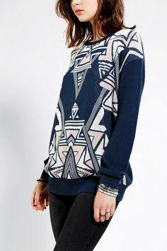 Ecote Intarsia Pullover Sweater