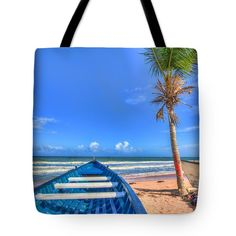 Tote Bags - Mayaro Blues Tote Bag by Nadia Sanowar