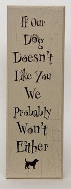 wooden signs with sayings | Engraved Wood Signs, Dog Sayings | Dog Speak Gifts & Cards